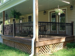 Wrought-iron porch railing