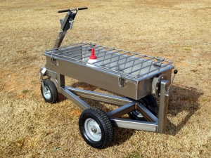Custom Stainless Calf Bottle Cart